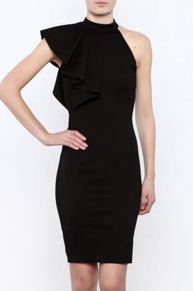 Mystic Black Ruffle Dress