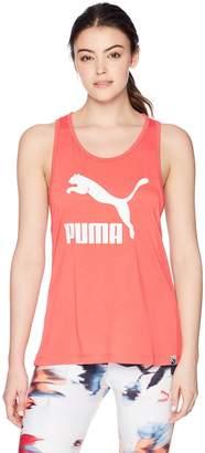 Puma Women's Classics Logo Tank, White, S
