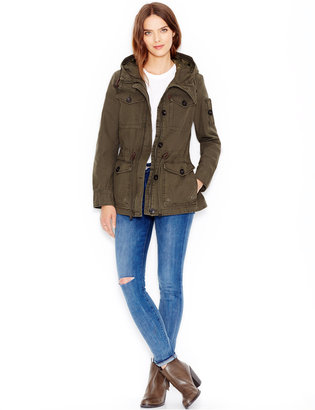 Levi's® Hooded Military Jacket $180 thestylecure.com