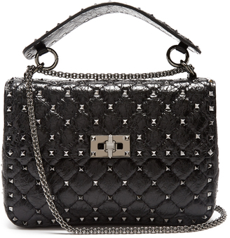 VALENTINO Rockstud Spike small quilted-leather shoulder bag $2,795 thestylecure.com