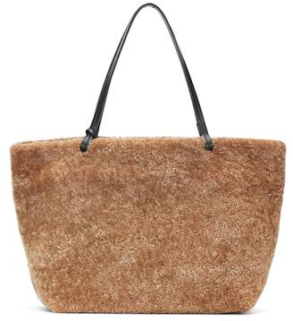 The Row Park shearling and leather shopper