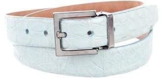 Dolce & Gabbana Gunmetal Crocodile Belt