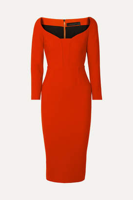 Roland Mouret Ardon Crepe Dress - Red
