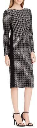 Ralph Lauren Color-Block Houndstooth Dress