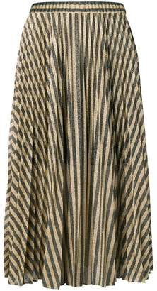 Philosophy di Lorenzo Serafini lamé pleated midi skirt