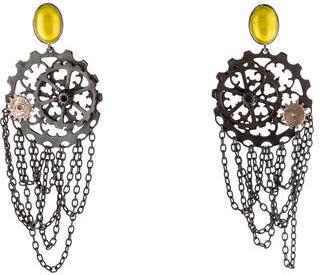 Bottega VenetaBottega Veneta Cog Wheel Earrings