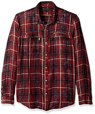 John Varvatos Men's Snap Front Shirt 63BO