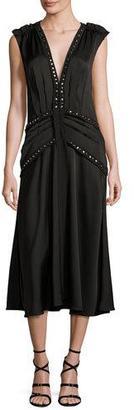 Rebecca Taylor Embellished Crepe Midi Dress $695 thestylecure.com
