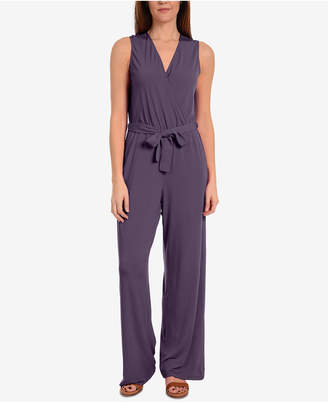 NY Collection Surplice Jumpsuit