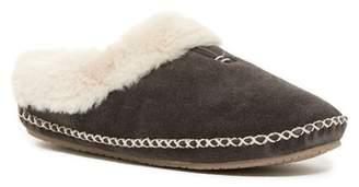 Minnetonka Carolina Faux Fur Lined Clog Slipper