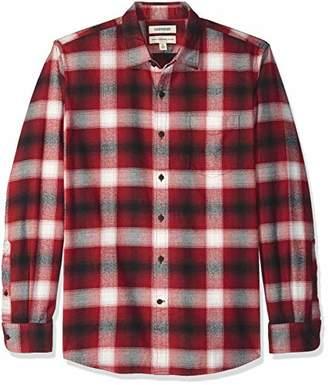 Goodthreads Men's Standard-Fit Long-Sleeve Brushed Flannel Shirt
