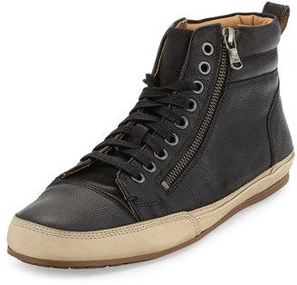 John Varvatos Star Zip High-Top Sneaker, Black $219 thestylecure.com