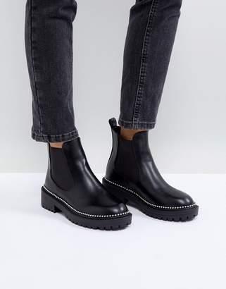 Adelina Raid RAID Black Chunky Studded Chelsea Boots