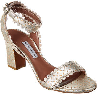 Tabitha Simmons Leticia Metallic Perforated Leather Sandal