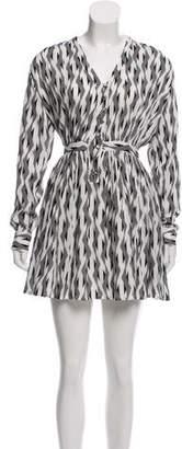 Thakoon Long Sleeve Printed Mini Dress