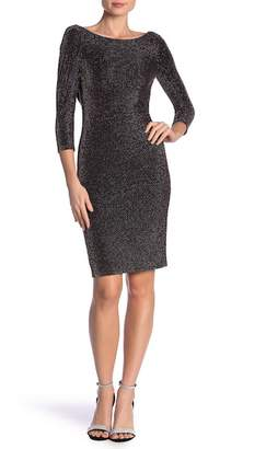 Bebe Metallic Knit Cowl Back Dress
