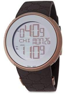 Gucci Dual-Zone Digital Watch/Brown