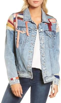 Blank NYC BLANKNYC Liquid Summer Beaded Denim Jacket