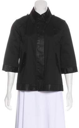 Rag & Bone Satin-Trimmed Button-Up Jacket