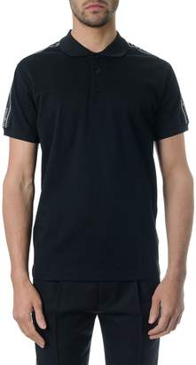 Christian Dior Black Cotton Polo T-shrt With Logo