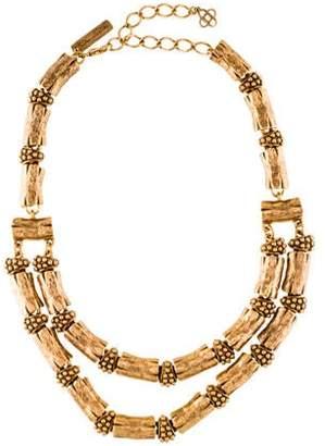 Oscar de la Renta Double-Strand Link Necklace