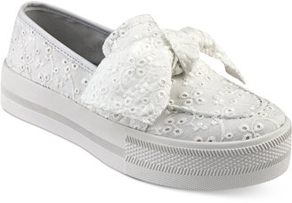 G by Guess Chippy Bow Sneakers Women's Shoes $59 thestylecure.com
