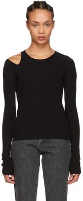 Helmut Lang Black Slash Sweater