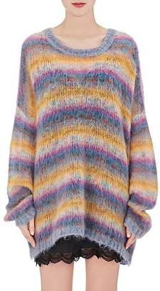 Chloé Women's Striped Mohair-Blend Oversized Sweater