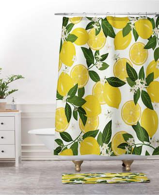Deny Designs Iveta Abolina Oslo Winter Blue Bath Mat Bedding