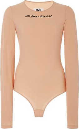Maison Margiela Logo Long-Sleeve Jersey Bodysuit