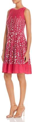 Nic+Zoe Tango Twirl Leaf-Print Dress