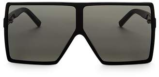 Saint Laurent Oversized Shield Sunglasses, 69mm $490 thestylecure.com