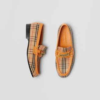 Burberry The 1983 Check Link Loafer , Size: 38, Yellow