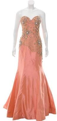 Mac Duggal Embellished Evening Dress w/ Tags