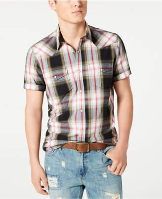 American Rag Men Taylor Regular-Fit Plaid Western Shirt