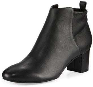 Delman Betsy Leather Block-Heel Bootie, Black $498 thestylecure.com