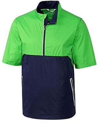 Cutter & Buck Men's Weathertec Waterproof Short Sleeve Fairway Half Zip Pullover Liberty Navy