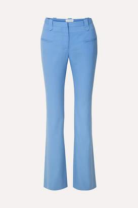 Altuzarra Serge Wool-blend Piqué Bootcut Pants - Blue