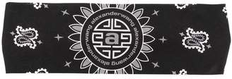 Alexander Wang logo paisley embroidered headband
