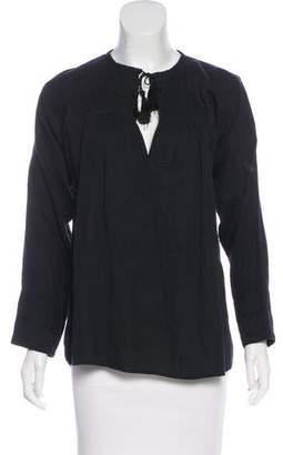 Etoile Isabel Marant Woven Long Sleeve Top