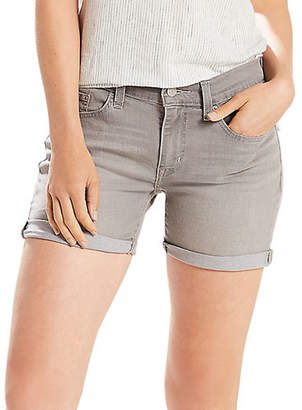 Levi's Graffiti Mid-Rise Denim Shorts