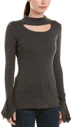 Central Park West Quincy Mock Turtleneck Top