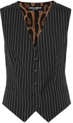 Dolce & Gabbana Pinstriped wool-blend vest