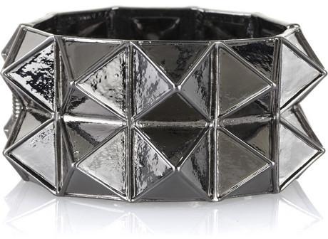 Kenneth Jay Lane Metal pyramid cuff