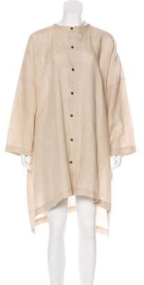eskandar Linen Midi Shirtdress