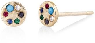 Women's Scosha Lolli Multi Stone Stud Earrings $395 thestylecure.com