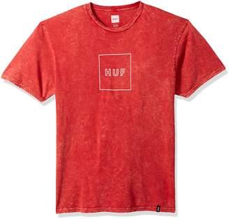 HUF Men's Outline Box Logo Acid Wash Tee