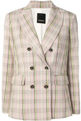 Pinko double breasted check blazer
