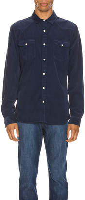 Frame Long Sleeve Western Shirt in Indigo | FWRD