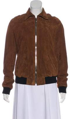 Anthony Vaccarello Suede Leather Jacket